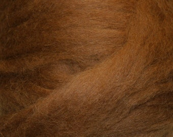 Chestnut Romney Wool Roving for Needle Felting One Ounce