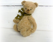 Sale! Free shipping worldwide Author teddy bear 6.3inches Artist teddy bear OOAK teddy bear vintage Gift for her Stuffed bear animal Gift