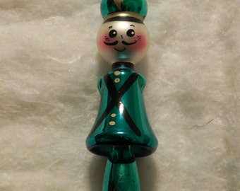 Vintage Glass Toy Soldier Ornament