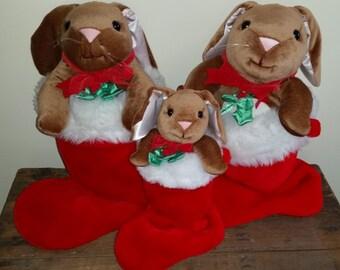 Vintage Velveteen Rabbit Target Christmas Stockings All Three