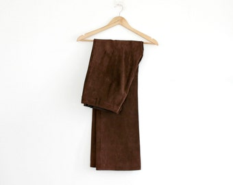 Suede Pants Leather Trousers High Rise Bell Bottoms Hippie Brown Pants Festival Bohemian Festival Folk Rustic Southwestern Cowgirl France