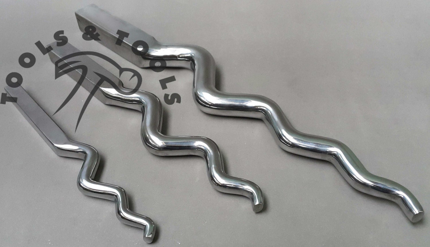 Heavy Duty Polished Double Ended Sinusoidal Stake Jewellery Forming Anticlastic