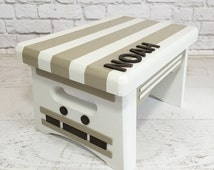 Unique Wood Step Stool Related Items Etsy