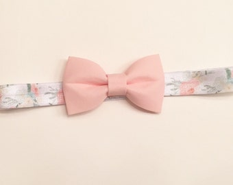 Orange blossom bow headband//peach bow//infant headband//toddler headband//bow headband