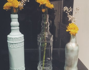 Vintage Styled Vases, Set of 3