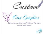 Etsy Cover Photo, Etsy Big Banner,  New Etsy Banner, Graphic Design Services, Etsy Store Graphics, Custom Cover Photo,  Cover photo Template