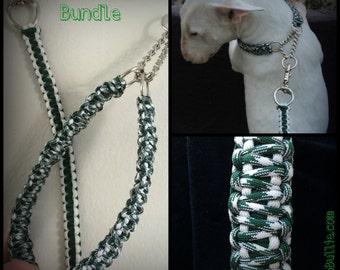 King Cobra Paracord Dog Leash and Collar Bundle