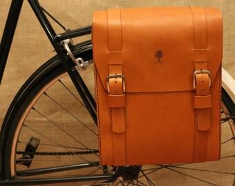 Big Leather Bicycle Pannier, Bike Panniers, Bicycle Bag