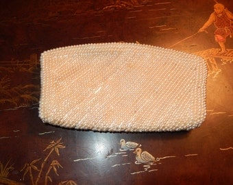 JAPAN A DAVID'S Prod Pearl Beaded Handbag