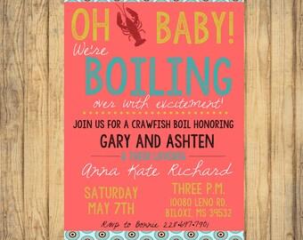 Custom Crawfish Boil Baby Shower DIGITAL FILE baby girl party