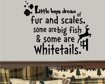 Little Boys Dream of.... - Wall or Window Decal