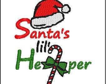 Christmas Santa's Helper Embroidery Pattern Design
