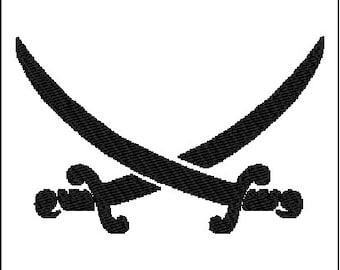 Sword Embroidery Design