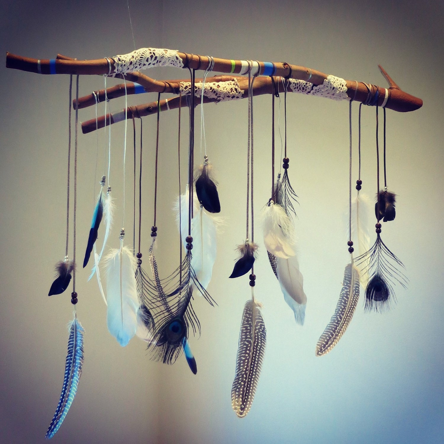 Gypsy Feather And Branch Dreamcatcher Mobile