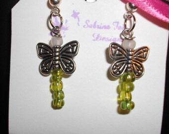 Butterflies in green