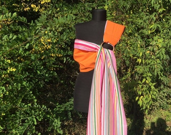 Baby Sling / Baby Ring Sling / Baby Wrap Carrier / FAST SHIPPING - 100% Super Cotton - Spring Oringe