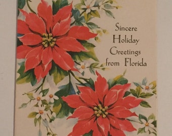 Vintage Florida Holiday Card