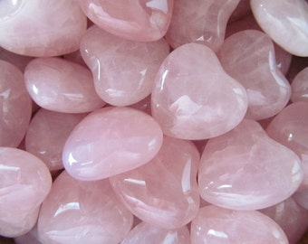 10 Rose Quartz Heart infused with Love and Reiki/ Healing Crystals and Stones