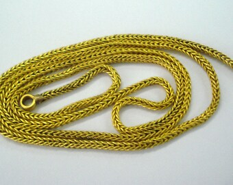 vintage antique 22kt gold chain handmade gold chain necklace gold jewellery