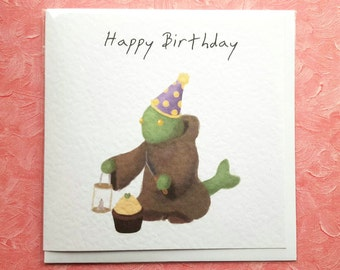 Tonberry Birthday Card - Final Fantasy Themed