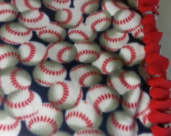 Baseball Fleece Throw - Baseball Fleece Blanket- Baseball Fan Blanket ~ Ready to Ship!