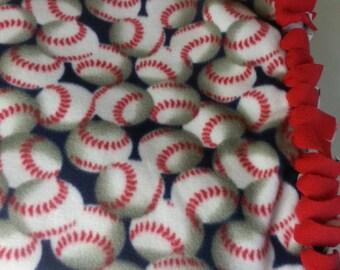 Baseball Fleece Throw - Baseball Fleece Blanket- Baseball Fan Blanket ~ Ready to Ship!