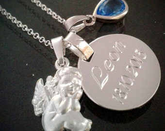 Baptism name necklace 925 Silver with engraving
