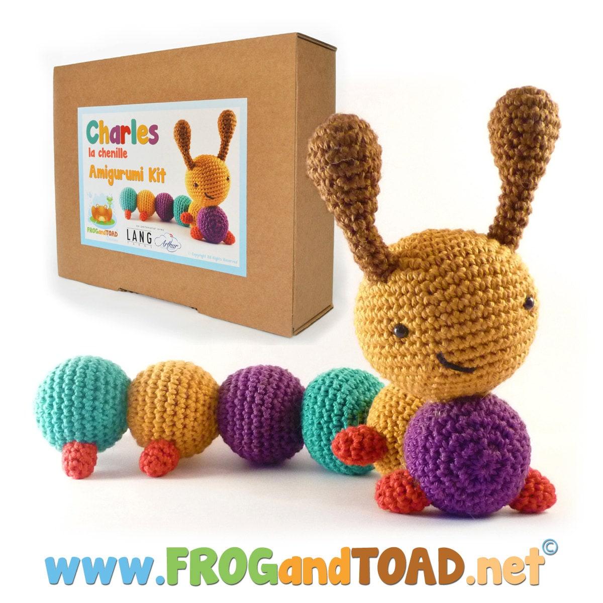 Amigurumi Animal Kit : Crochet Kit Amigurumi Kit CHARLES la by FROGandTOADCreations