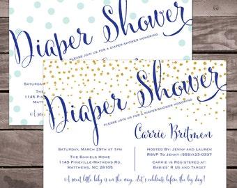 Printable Diaper Shower Invitation