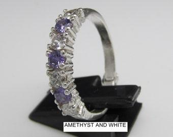 Sterling silver Eternity ring, 925, handmade