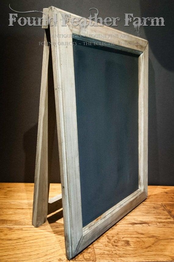 Vintage Tabletop Easel Chalkboard with Wooden Frame