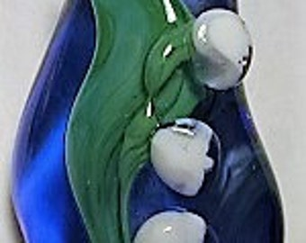 Lampwork Lily of the Valley focal bead