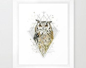 Eagle Owl Print