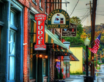 Downtown Cave Spring, Georgia Matted Fine Art Photographic Print