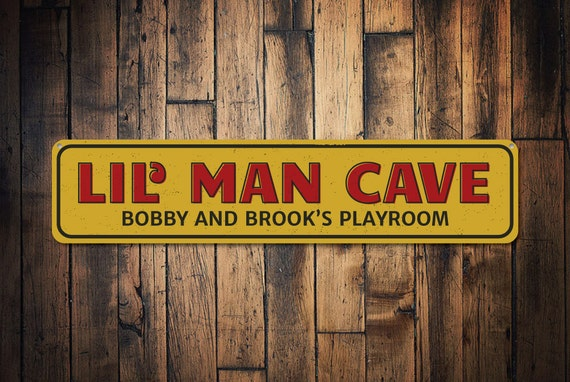 Man Cave Names : Lil man cave sign personalized little children names