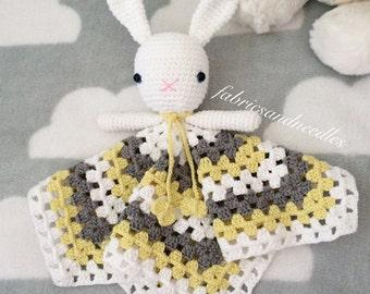 Handmade Cotton Doll, Grey, Yellow,White, Sleeping friend,