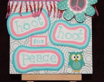 Hoot Hoot for peace (blue)
