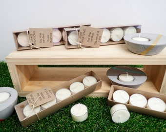 Soy Tea Light Candles - Box of 5