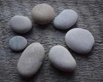 sea stones set grey beach stones sea pebbles crafting