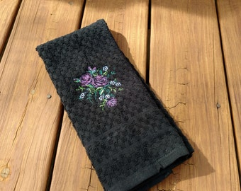 Kitchen Towel with Flower Embroidery