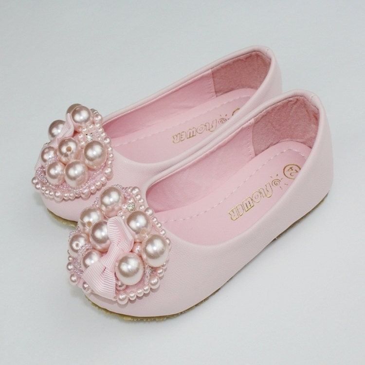 light pink flower shoes toddler by flowerlodge