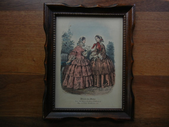 Miroir des modes magazine print of victorian paris fashion for Miroir venitien paris