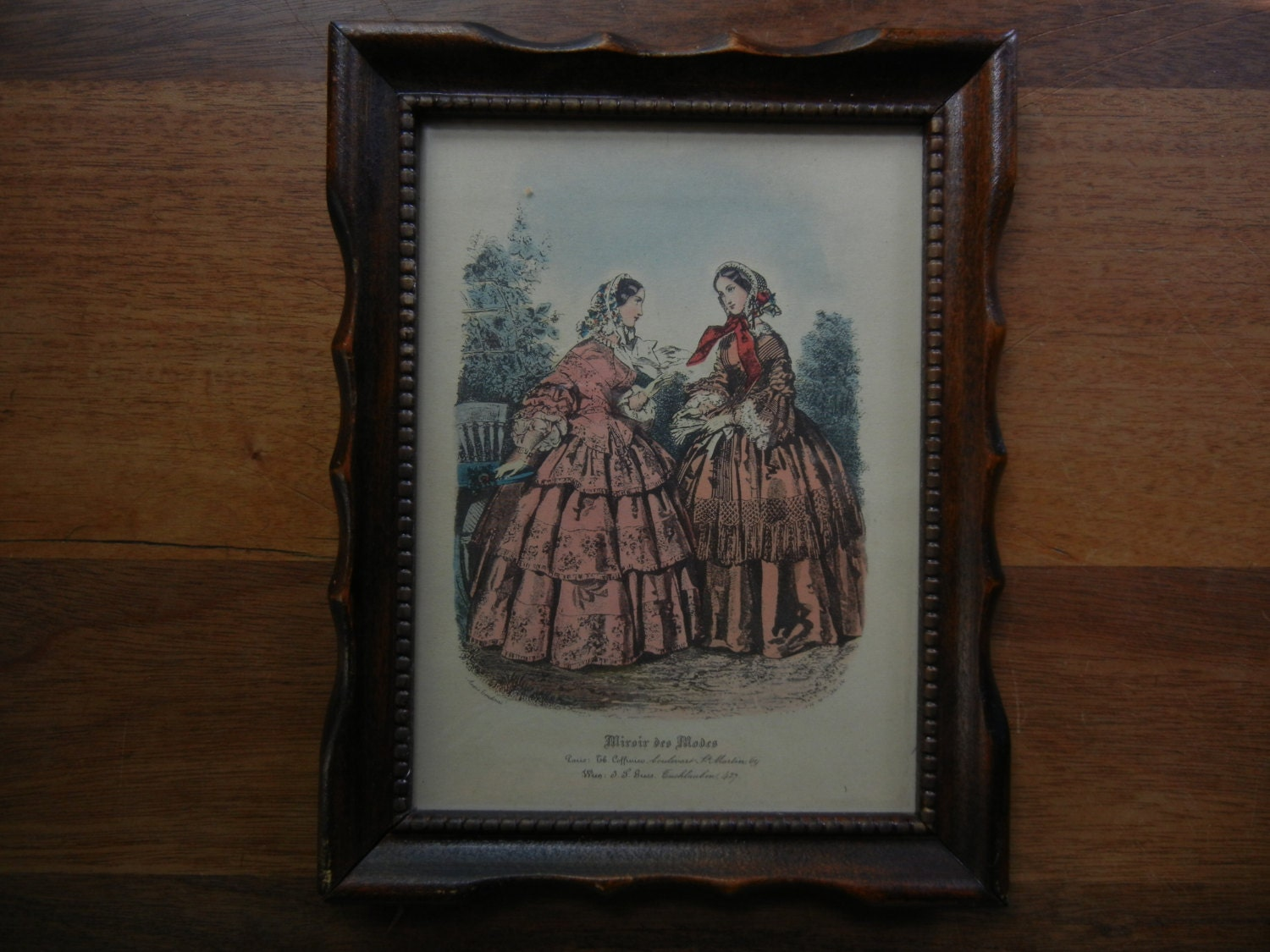 Miroir des modes magazine print of victorian paris fashion for Miroir des modes value