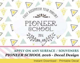Pioneer School Decal - Apply to any surface