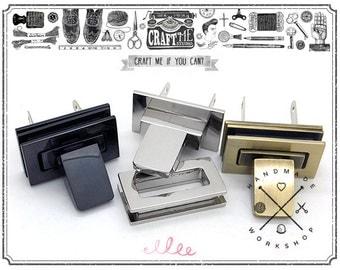 2SETS 1 1/4 inch (32mm) METAL CRAFT Case Clasp Turn lock Bag Purse Belt
