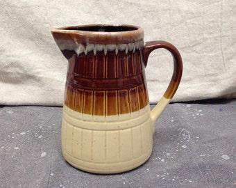 Vintage Pottery Pitcher // Hull Glaze Ceramic Stoneware