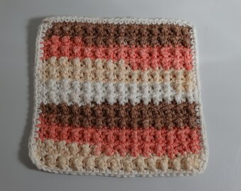 """crochet Cotton dish rags with """"bumps"""""""
