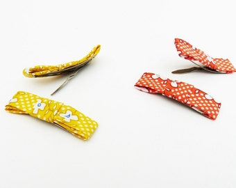 baby hair clip yellow and orange