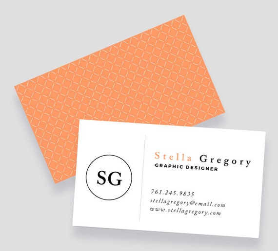 Professional Business Card Template | Word and Pages | Instant ...