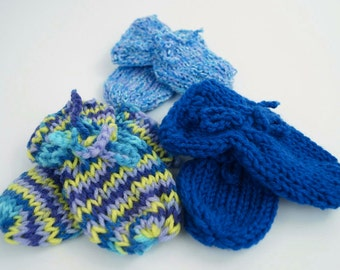Newborn Knit Mittens - Baby Knit Mittens - Baby Hand Covers - Newborn Mittens - No Scratch Baby Mittens - Baby Shower Gift - Ready to Ship